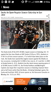 Anaheim Ducks Official App- screenshot thumbnail