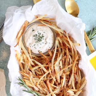 Parmesan Truffle Oven Fries with Rosemary Garlic Aioli Recipe