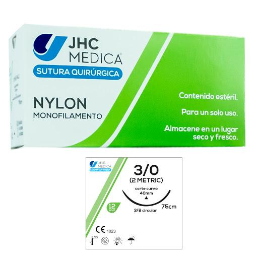 sutura nylon 3.0 aguja circular jhc
