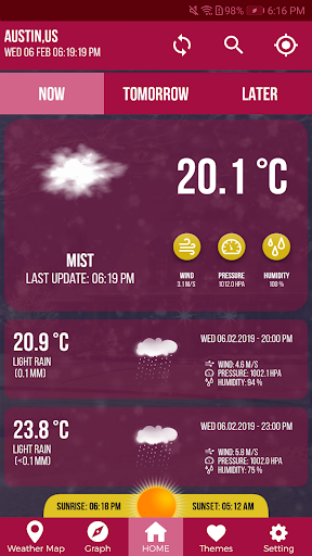 Screenshot for Weather Network Local Forecast & Weather Channel in United States Play Store