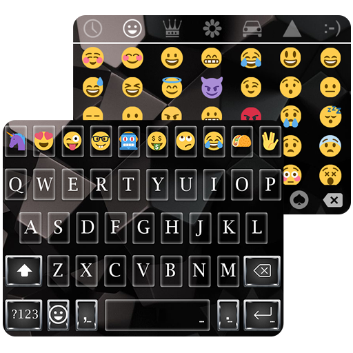 Business Black Emoji Keyboard Theme