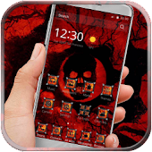 Red hell skull theme