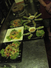 Photo: Green mango salads and rice paper spring rolls we made