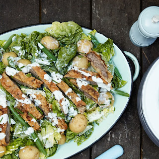 Country Fried Steak Salad With Blue Cheese Dressing
