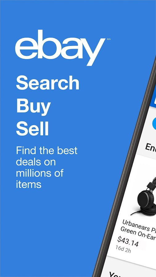Screenshots of eBay for iPhone