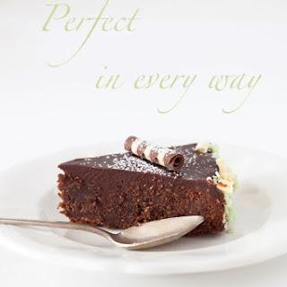 Almond-Chocolate Cake with Chocolate Glaze - Queen of Sheba Cake.