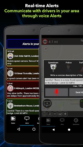 Radarbot Free: Speed Camera Detector & Speedometer  screenshots 2