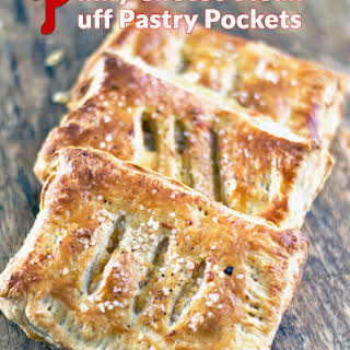 Philly Cheesesteak Puff Pastry Pockets.