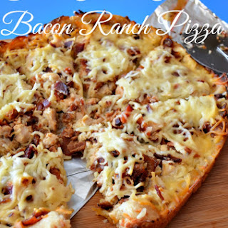 Slow Cooker Chicken Bacon Ranch Pizza