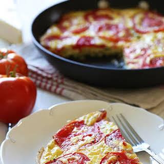 Tomato and Zucchini Frittata.
