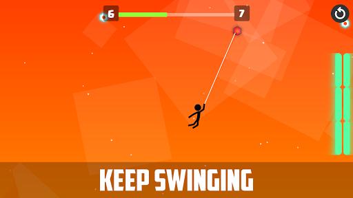 Stickman Rope Star : swing game  captures d'écran 1