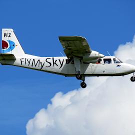 Fly My Sky by Teodora Motateanu - Transportation Airplanes