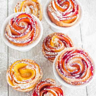 Peach Plum Rose Tarts.
