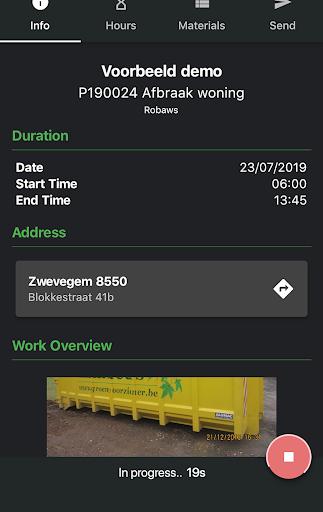 Wappy eenvoudige werkbon app screenshot 2