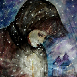 by Vesna Disich - Painting All Painting ( snow )