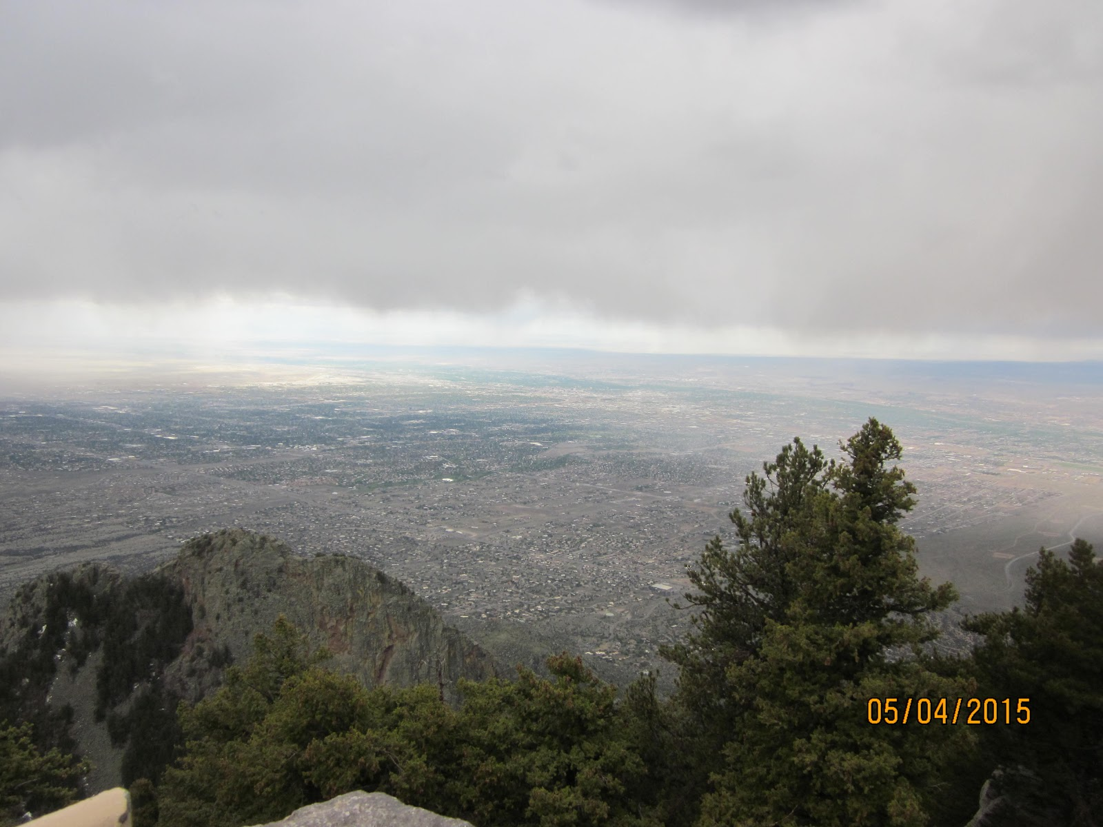 Sandia Crest bike climb - view to plains below from viewpoint