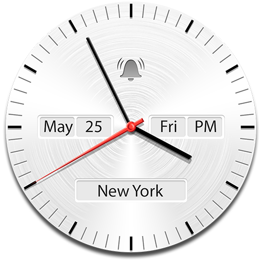 Analog Clock Widget with Date Icon