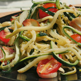 Making Zucchini Spaghetti Recipe