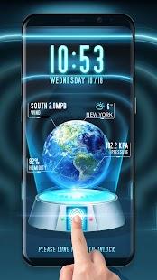 Fingerprint Locker Earth 3D - náhled