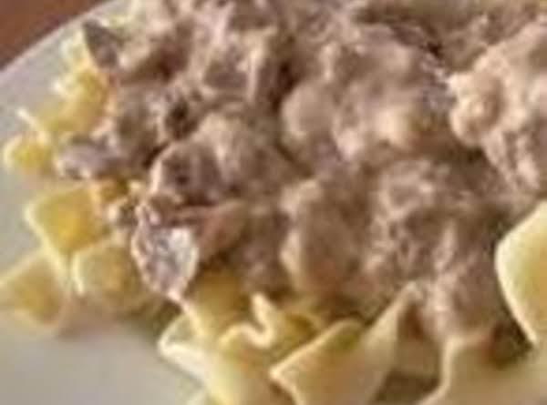 Mom's Hamburger Stroganoff Recipe