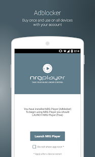 NRG Player Adblocker- screenshot thumbnail