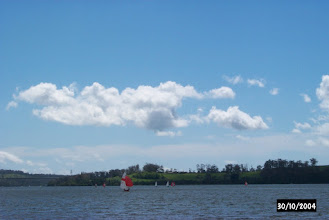 Photo: Dodging racing dinghies off Deviot
