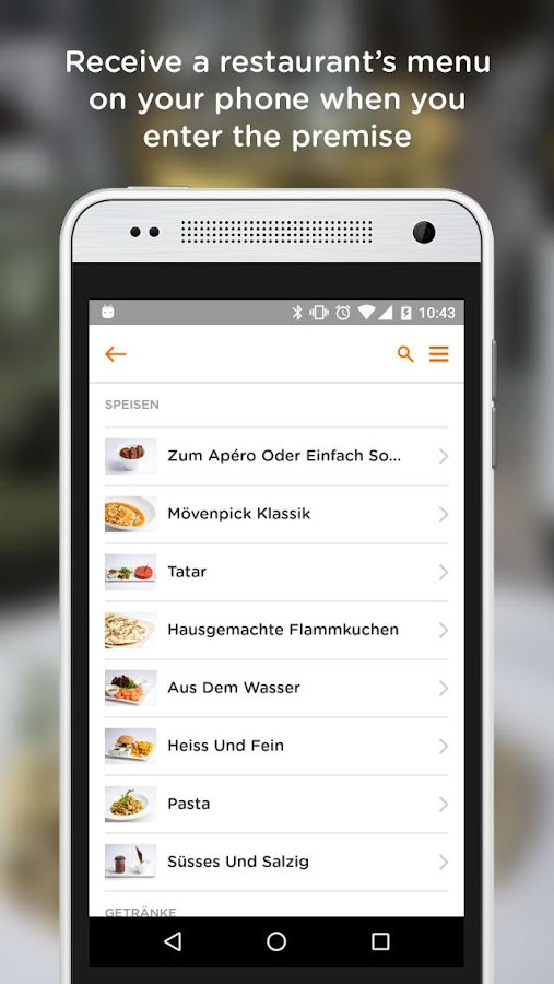 MENU - Your Mobile Waiter- screenshot