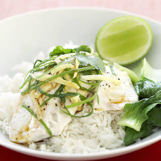 Steamed Fish with Ginger and Soy.