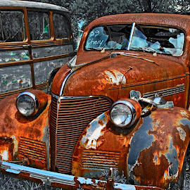 Left out in the rain? by JEFFREY LORBER - Transportation Automobiles ( 1939 chevrolet, chevrolet, 1939, lorberphoto, rusted car, classic cars of south carolina, rust 'n chrome, rust, jeffrey lorber )