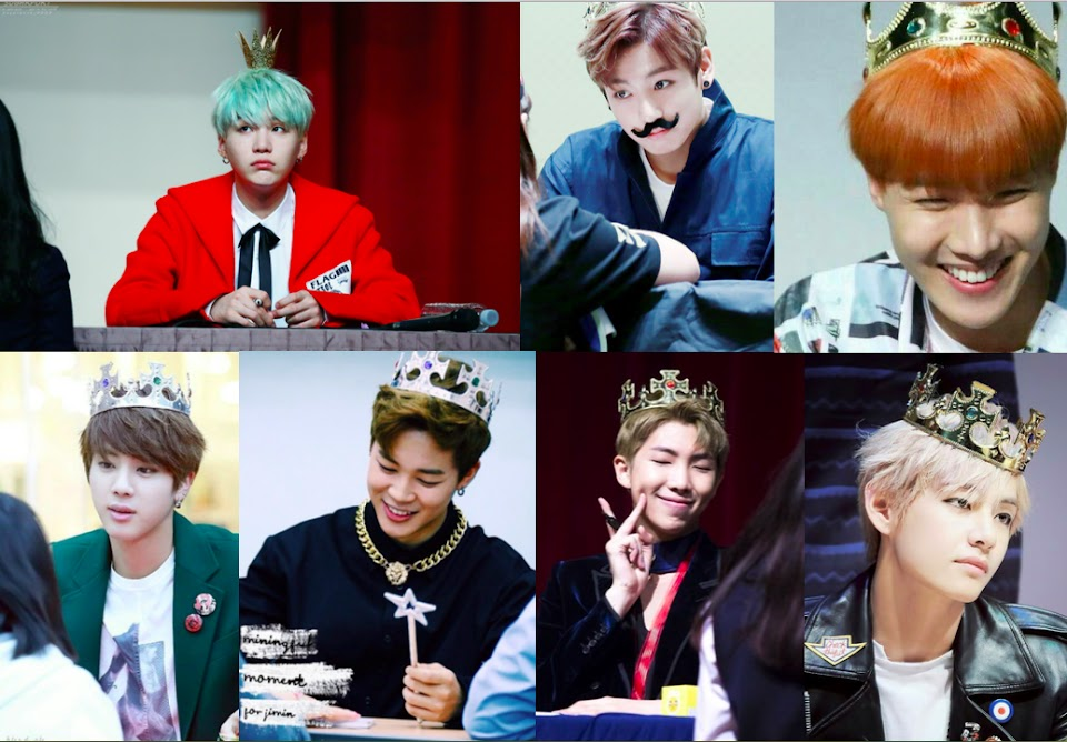 bts with crowns
