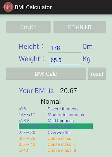 BMI Calculator -理想体重- BMI計算