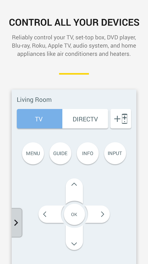 Peel Smart Remote (WatchON™)- screenshot