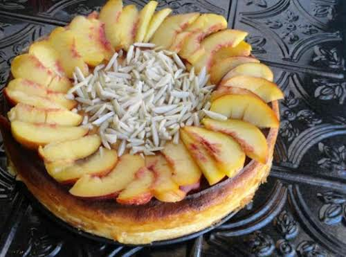 "Amaretto Cheesecake ""The combination of amaretto and peach in this recipe is..."
