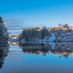 Øykjeneset by Espen Rune Grimseid - Landscapes Waterscapes ( bergen, canon, winter, nature, blue, reflections, vågsbøpollen, seascape, landscape, fjord, norway )