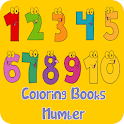Coloring Book: Number icon