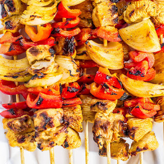 Grilled Honey Mustard Chicken Kabobs