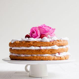 Vegan Apple Raspberry Layer Cake.