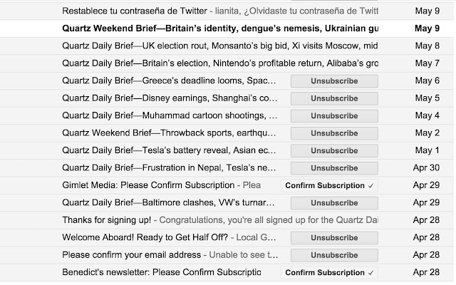Gmail Unsubscriber