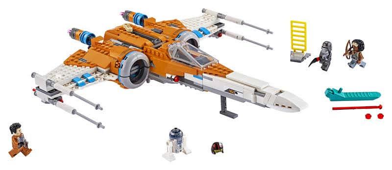 Contenido de Lego® 75273 Caza Ala-X de Poe Dameron