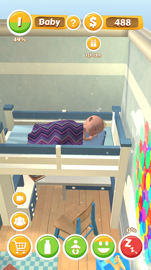Are there any virtual games that teach you to care for babies?