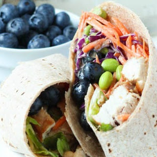 Thai Chicken Salad Wrap with Blueberries