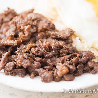 Beef Teriyaki Tapa with Fried Rice and Egg.