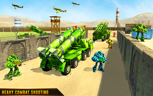 US Army Robot Missile Attack: Truck Robot Games modavailable screenshots 14