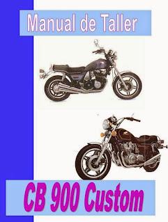 honda cb 900 custom manual-taller-servicio-despiece