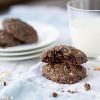 Chocolate, Hazelnut and Oatmeal Cookies.