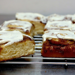 Cinnamon Swirl Buns with Cream Cheese Glaze.