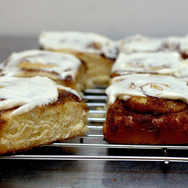 Cinnamon Swirl Buns with Cream Cheese Glaze