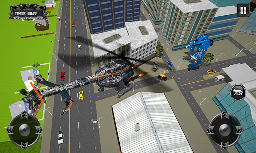 robot hélicoptère transform loup robot futuriste  captures d'écran 1