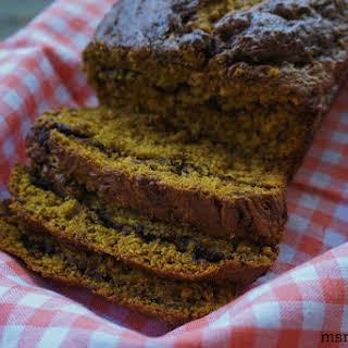{gluten free} Nutella Pumpkin Bread.