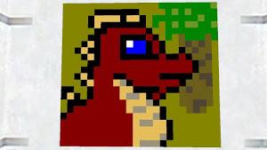 Bloxy art dragon